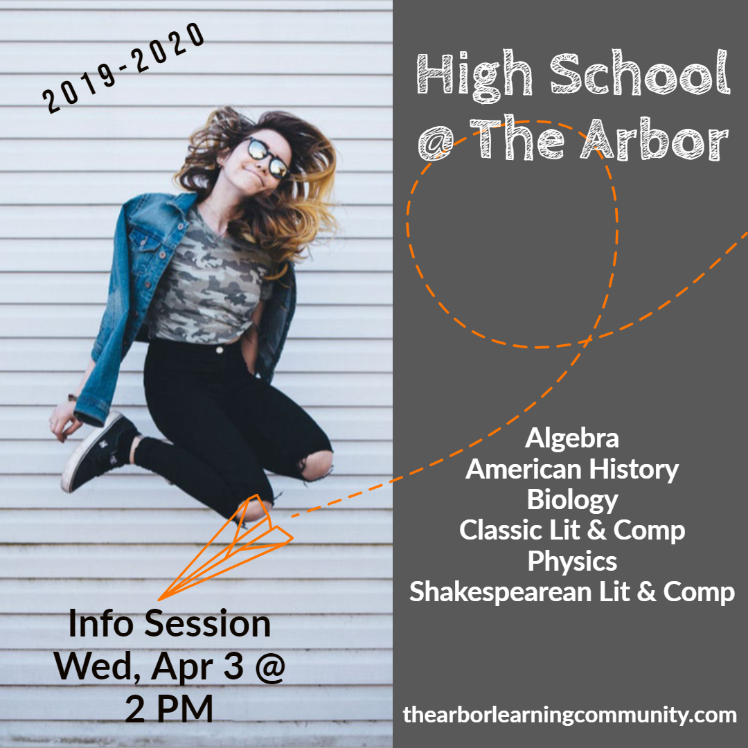 high school info session april 3rd at 2pm