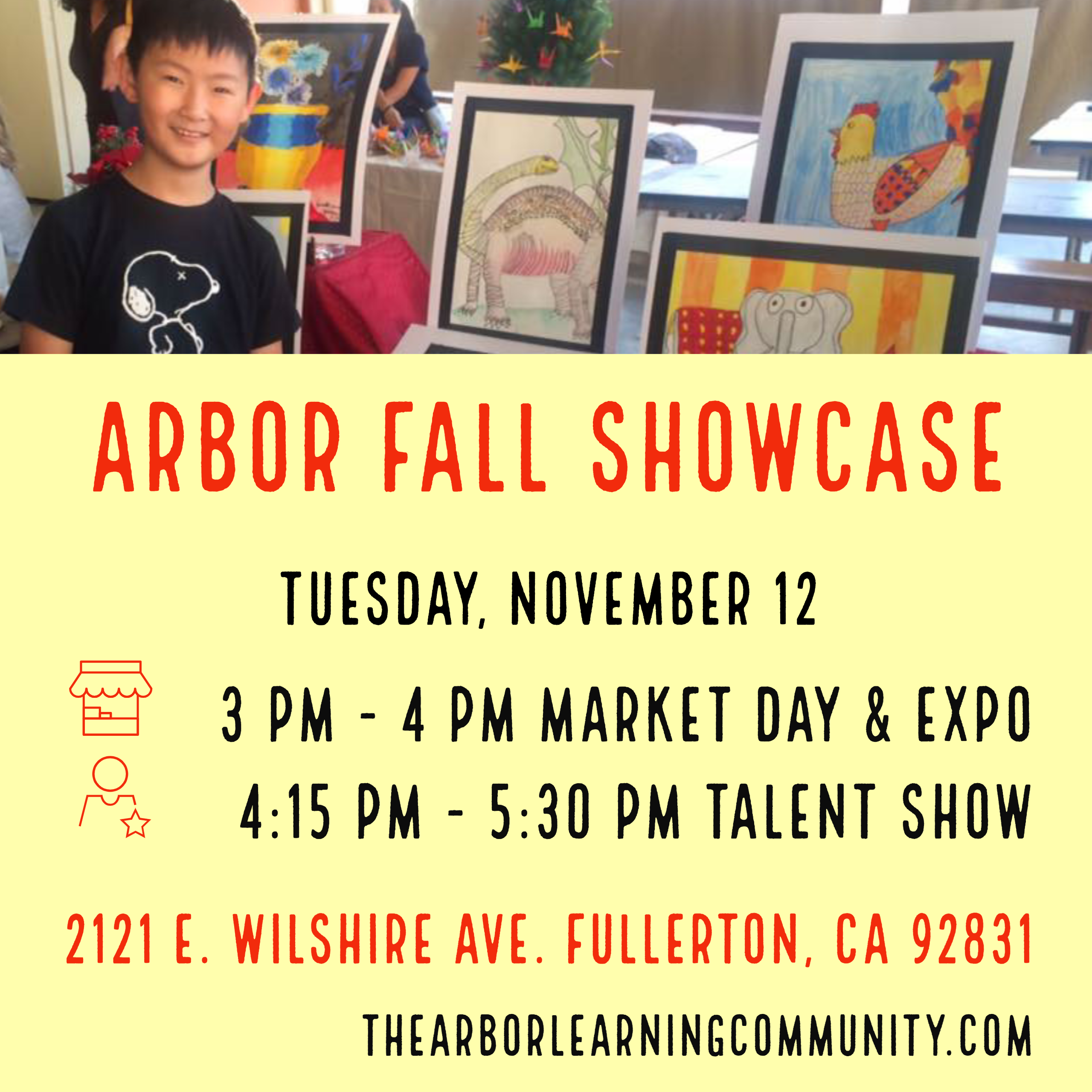 Arbor Fall Showcase, Tuesday, Nov 12 from 3pm to 5:30pm